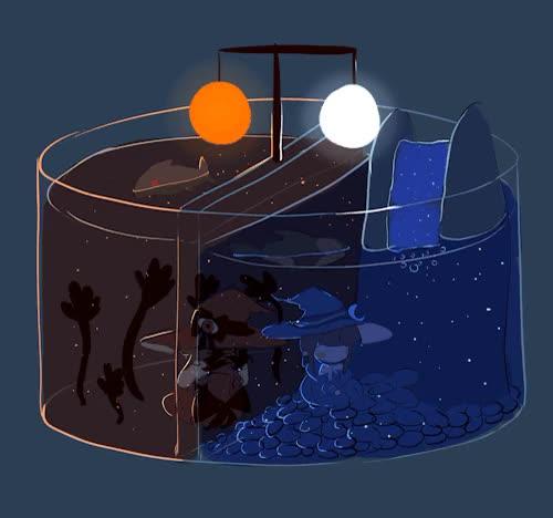 Watch sleepy GIF on Gfycat. Discover more 100plus, 40plus, 700plus, doodle, gif, hands/, mogeko, sal, samekichi, wadanohara, wadanohara and the great blue sea, wadanohara spoilers, well more like lil figures of them GIFs on Gfycat