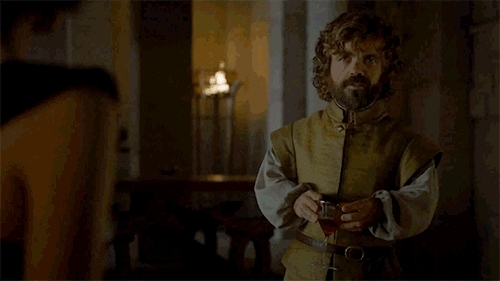 drinking, eating, food, game of thrones, got, hbo, i know, i know things, imp, know, peter dinklage, I drink and I know things GIFs