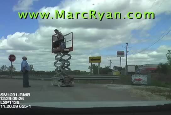 Watch and share Steve's Drunk And High DUI At Work (Arrested On Scissor Lift) GIFs on Gfycat