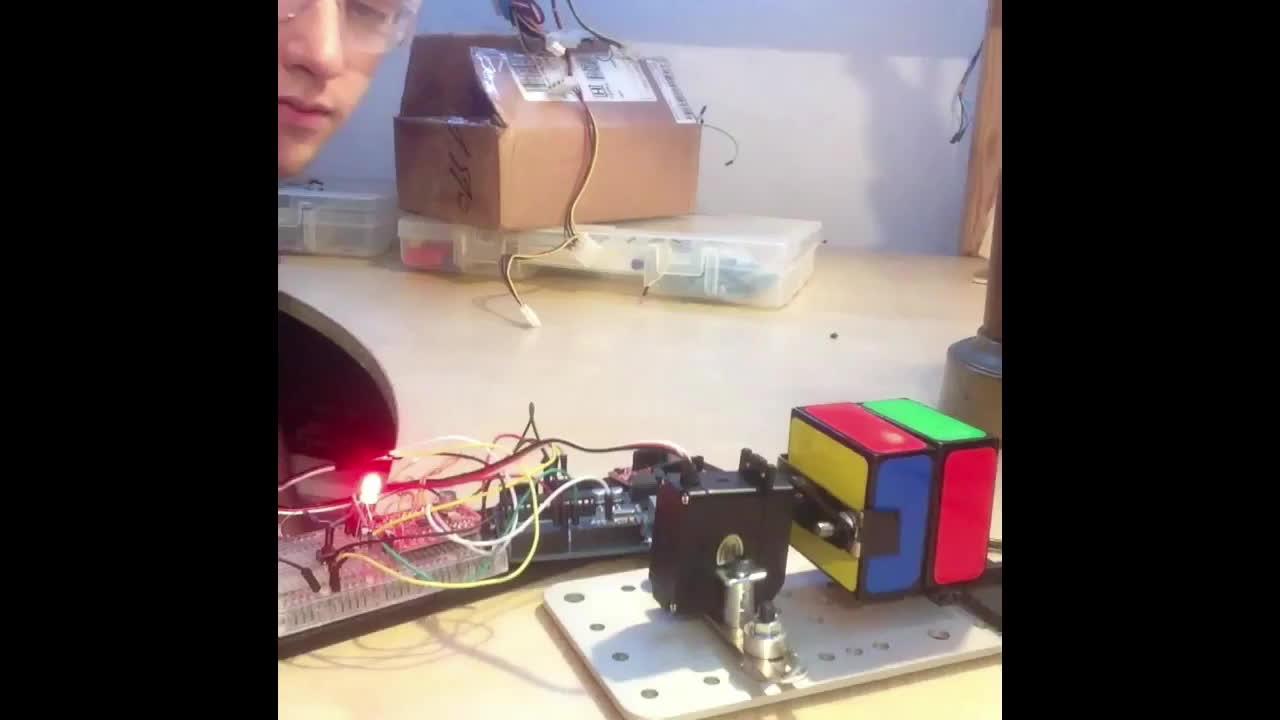 cubers, nonononoyesno, shittyrobots, Boob Cube Solver Robot test run no. 8008 [www.theboobcube.com] GIFs