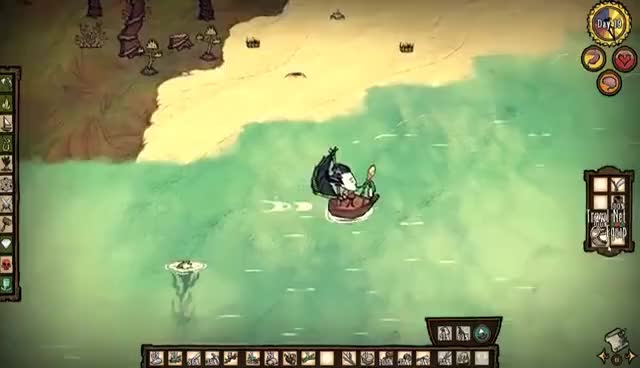 Watch and share NOVO - Don't Starve DLC Shipwrecked #06 ☯ MARÉ MORTAL GIFs on Gfycat