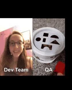 Watch and share 개발팀의 의도 VS QA의 테스트 GIFs on Gfycat