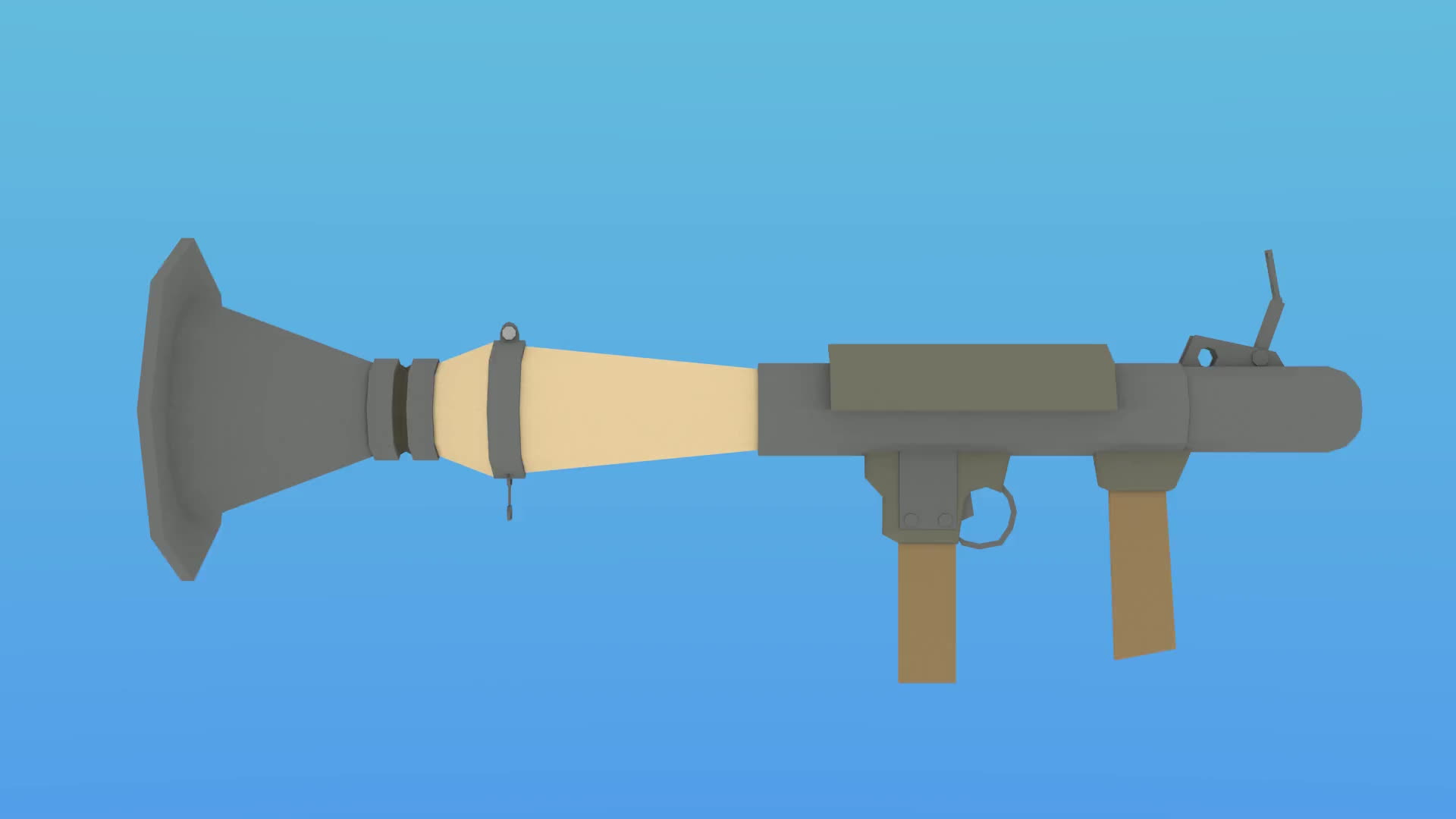 low-poly, low_poly, tf2, Low-Poly TF2 Rocket Launcher GIFs