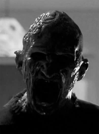 Watch and share Black And White Freddy Krueger Gif GIFs on Gfycat