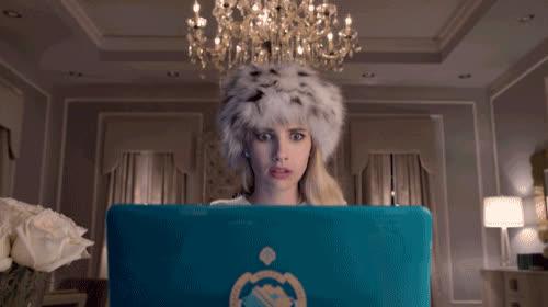 celebs, emma roberts, Emma Roberts Scream GIFs