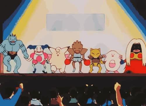 Watch and share Pokemon Mine Pokemon Gif Pokemon Gifs Hitmonchan Jynx Chansey Clefable Abra Mr Mime Machoke GIFs on Gfycat
