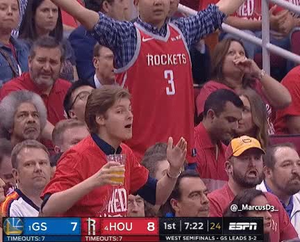 Watch and share Houston Rockets Fan Reactions GIFs by MarcusD on Gfycat