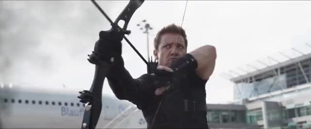 Watch Hawkeye Antman Arrow GIF on Gfycat. Discover more civil war trailer, movies, new civil war trailer GIFs on Gfycat