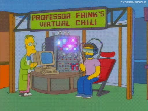 Watch and share VR - Simpsons Chili GIFs on Gfycat