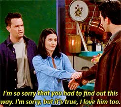 Watch and share Season 5 Episode 15 GIFs and Chandler And Monica GIFs on Gfycat