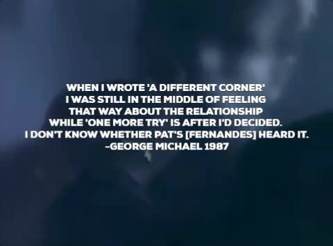 Watch George Michael A Different Corner Pat Fernandes GIF by For Barbara (@bardea) on Gfycat. Discover more a different corner, george michael, one more try, pat fernandes GIFs on Gfycat