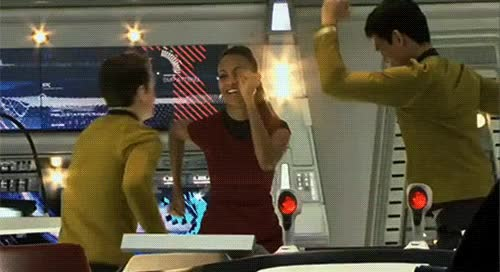 Watch this star trek GIF by Star Trek gifs (@star-trek-gifs) on Gfycat. Discover more anton yelchin, chekov, hikaru sulu, john cho, nyota uhura, party, pavel chekov, reaction, star trek, star trek 2009, star trek beyond, star trek enterprise, star trek into darkness, star trek nemesis, star trek voyager, sulu, uhura, zoe saldana GIFs on Gfycat
