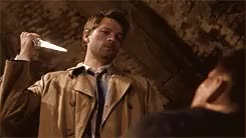 """Watch especially with the whole """"Team Free Will"""" thing.But did any GIF on Gfycat. Discover more 8.17, Castiel Enchanted, It's now been ficced!, ella enchanted, spn parallels GIFs on Gfycat"""