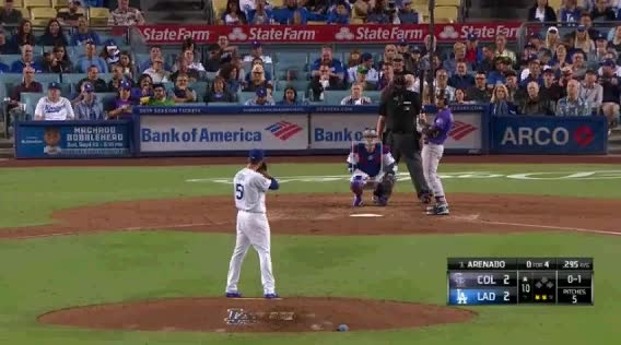 Watch and share Los Angeles Dodgers GIFs and Colorado Rockies GIFs by jsulliv6 on Gfycat
