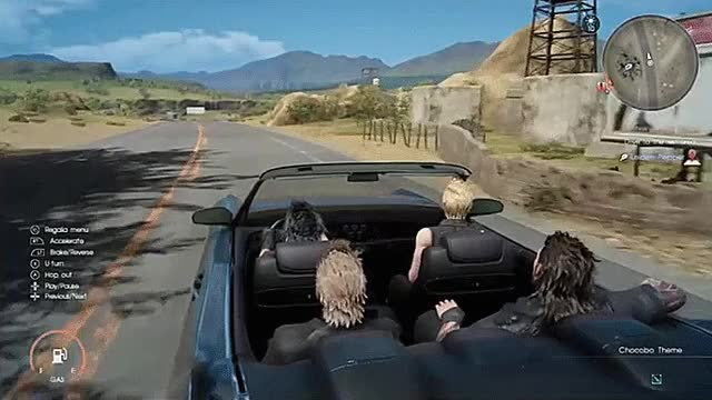 Watch and share MakuXV - Noctis Randomly Stopping The Car. #FFXV #FF15 GIFs on Gfycat
