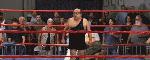 Watch danny, devito, wrestling, winning, win GIF on Gfycat. Discover more related GIFs on Gfycat