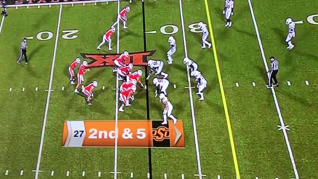 OSU: Texas run blitzes, and stuffs play GIF by Dustin