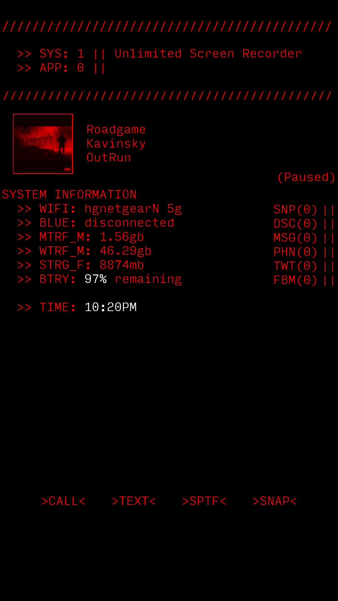 KLWP, KWGT, Kustom, KWGT/KLWP ASCII Theme Demo GIFs