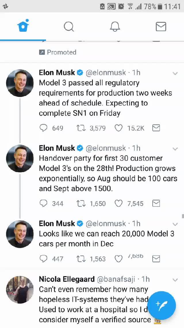 Watching @elonmusk like in his tweets, is like watching a gambling machine in slow motion. #changingworldtech  GIFs