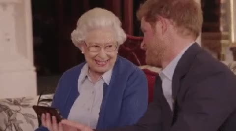 Watch and share Queen Elizabeth GIFs and Prince Harry GIFs on Gfycat
