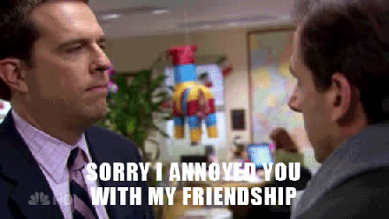 ed helms, sorry to bother you with my friendship GIFs