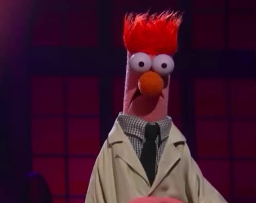 ashamed, beaker, drop, frog, hide, kermit, mic, miss, muppet, muppets, omg, pepe, piggy, red, shame, shameful, show, shy, the, Drop the Mic: Kermit the Frog and Pepé vs. Miss Piggy and Beaker GIFs