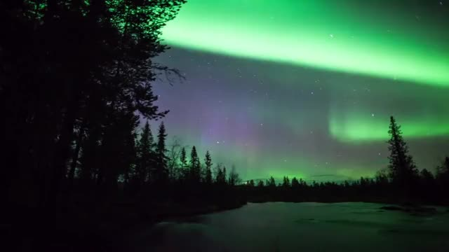 Watch Aurora borealis timelapse - polar reflections autumn 2013 GIF on Gfycat. Discover more harriniva, lapland, snow, timelapse, winter GIFs on Gfycat