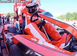 Watch and share He Won The Race GIFs and Kimi Raikkonen GIFs on Gfycat
