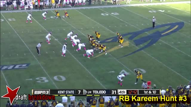 Watch and share Kareem Hunt Vs  Kent State 2015 GIFs on Gfycat