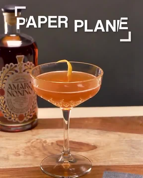 How to Make A Paper Plane Cocktail