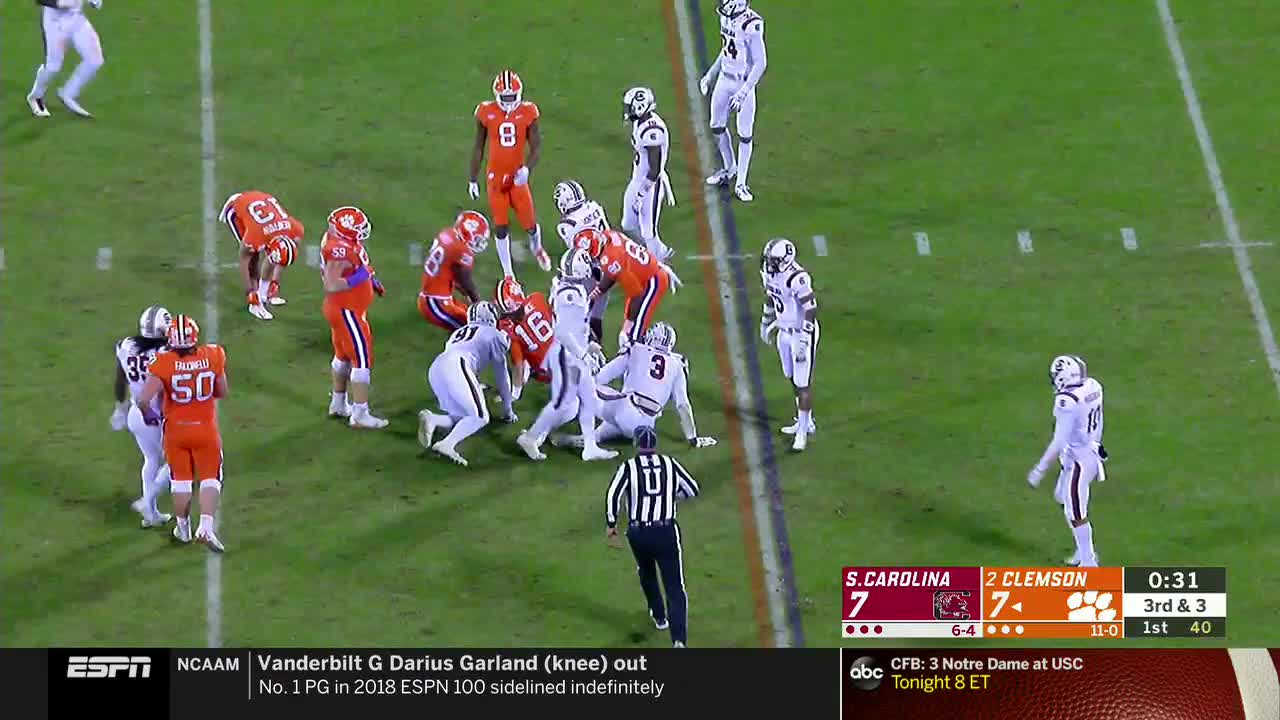 College Football South Carolina At Clemson Espn Clippit Gif