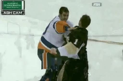 Watch and share Like The Time Brent Johnson Broke Rick Dipietro's Face. Edit: Also Gif GIFs on Gfycat