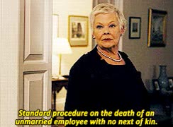Watch and share Judi Dench GIFs on Gfycat