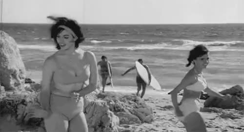 Watch and share Beach Party GIFs and Vintage GIFs on Gfycat