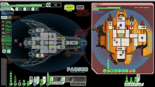 ftlgame, dual glaive beam, maxed hacking GIFs