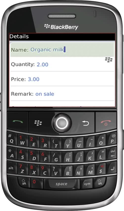Grocery Gadget Shopping List app is available for BlackBerry