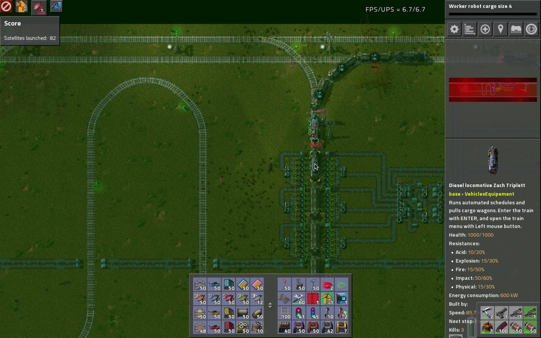 factorio, Factorio train overshoots its station GIFs