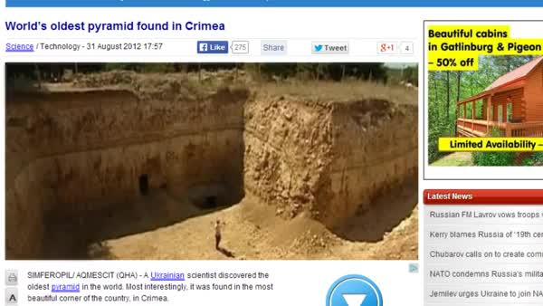 Watch Is This The Cause of War?  Oldest Pyramid On Earth Found Buried In Crimea, Ukraine! (reddit) GIF on Gfycat. Discover more related GIFs on Gfycat