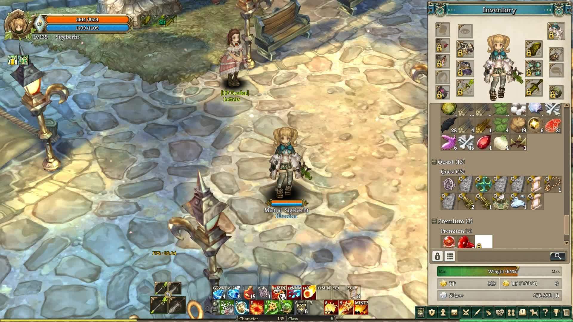 treeofsavior, Wizard C3 idle/running animation GIFs