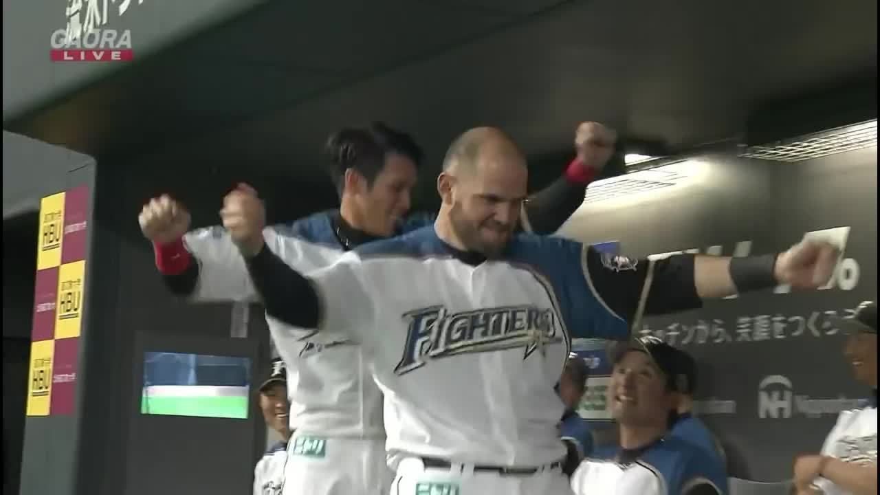 Japanese baseball, NPB, Brandon Laird dancing GIFs