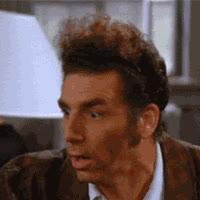kramer, michael richards, scream, seinfeld, shocked, Kramer GIFs