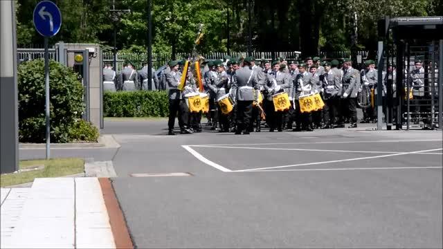 Watch and share Wachbatallion Marching Past Defense Ministers Von Der Leyen And Goulard GIFs on Gfycat