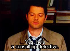 Watch and share Dean Winchester GIFs and Sherlock Holmes GIFs on Gfycat
