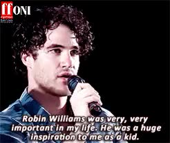 Watch and share Robin Williams GIFs and Darren Criss GIFs on Gfycat
