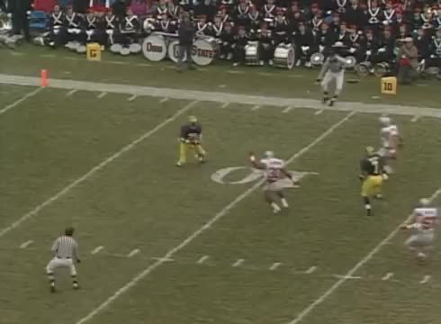 cfbgifs, Greatest punt return ever! Desmond Howard Heisman Pose (reddit) GIFs