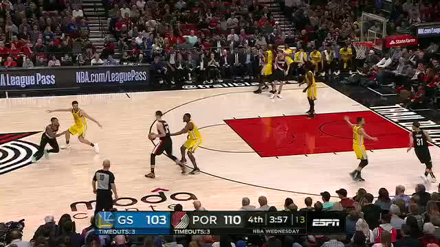 Watch this basketball GIF by @dkurtenbach on Gfycat. Discover more basketball, golden state warriors, portland trail blazers, trail blazers, warriors GIFs on Gfycat