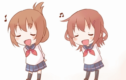 awwnime, ( ´ 3`)〜♪ [KanColle] GIFs