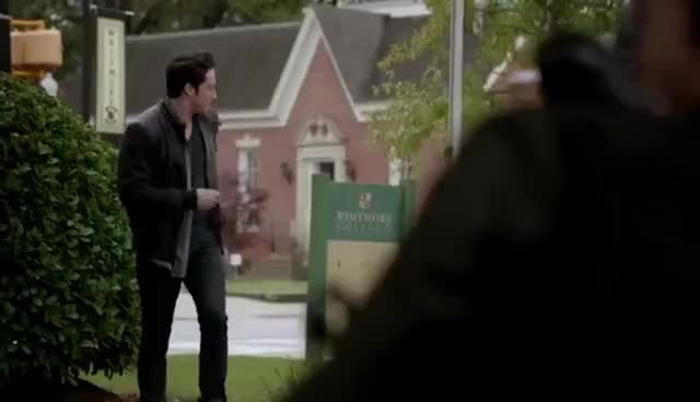 The Vampire Diaries: 7x11 - Damon wants to see Elena and asks her coffin to Tyler [HD] GIFs