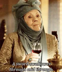 Watch and share Queen Of Thorns GIFs and Sword Swallower GIFs on Gfycat
