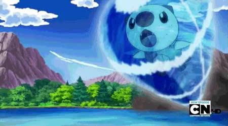 Watch and share GIF: Oshawott Using Aqua Jet To Palpitoad! By Ash-Oshawott GIFs on Gfycat